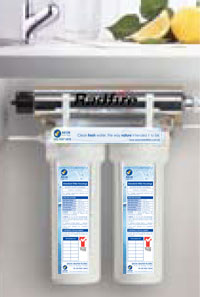 Water Filtration Undersink Dual UV System is out of sight